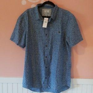 Nwt quicksilver button down xl shirt - blue